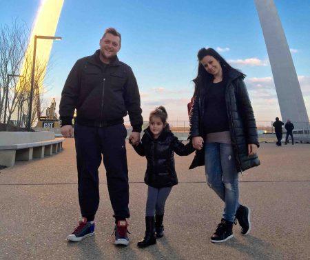 Jokic Family in St. Louis