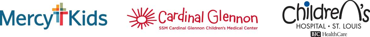Mercy Kids, Cardinal Glennon, and Children's Hospital St. Louis logos