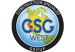 Logo for CSG West general contractors