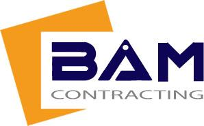 Logo for BAM Contracting company