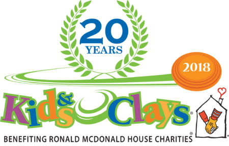 20th Anniversary logo for Kids and Clays Foundation