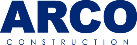 company logo for arco construction
