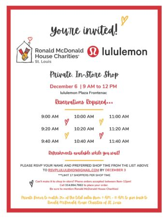4th Annual Lululemon Private Shop @ Luluemon Plaza Frontenac