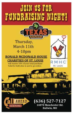 Texas Roadhouse Fundraising Night! @ Texas Roadhouse